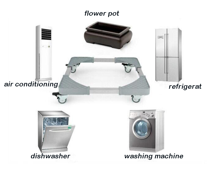 Clean and environmentally friendly adjustable refrigerator bracket ,air conditioning/washing machine bracket
