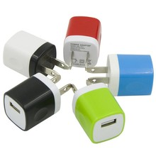 Multi color 5V 2A micro usb travel charger single port wall charger