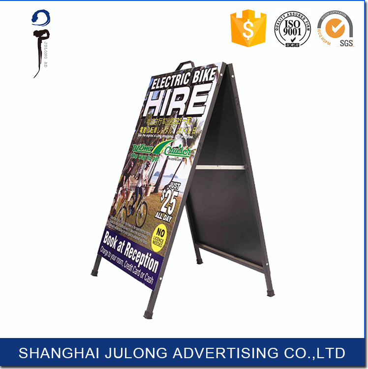 Double Side Aluminum Sandwich Board Sign outdoor sign board material illuminated a frame signs promotional exhibition stand