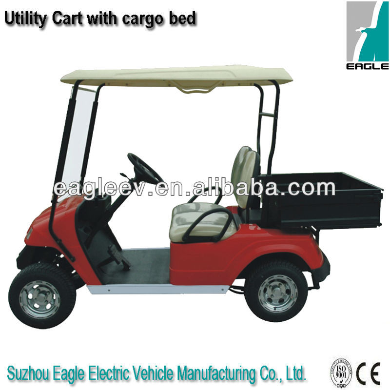 Electric utility cargo vehicle, 2 seats with cargo bed, CE approved