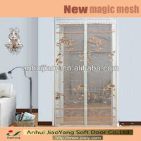 magnetic frameless mesh door curtain
