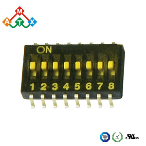 1.27mm half pitch smt smd mini micro dip switch