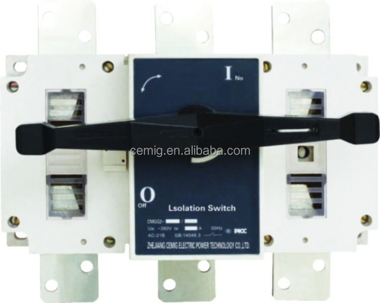 Indoor Outdoor Electric 3P 4P AC DC Load Isolating switch 400A