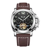 Fabrikant Leverancier rvs tourbillon horloge mechanische horloges mannen lederen band <span class=keywords><strong>shark</strong></span>
