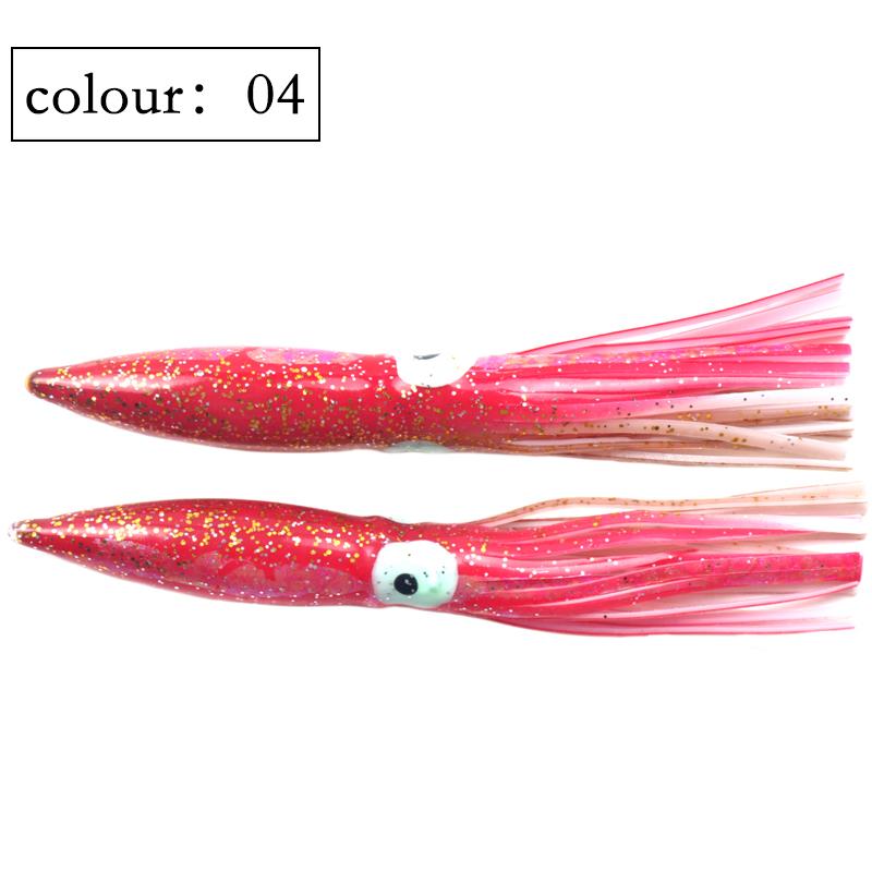 11cm 5g Swim long tail Fishing Tackle Saltwater Octopus Bait Squid Skirt Lure