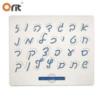 Hebrew alphabet learning drawing pad popular magnetic letter boards magnetic board for kids