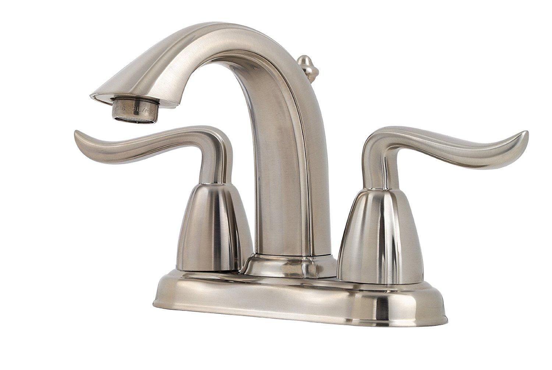 "Pfister Santiago 2-Handle 4"" Centerset Bathroom Faucet, Brushed Nickel"