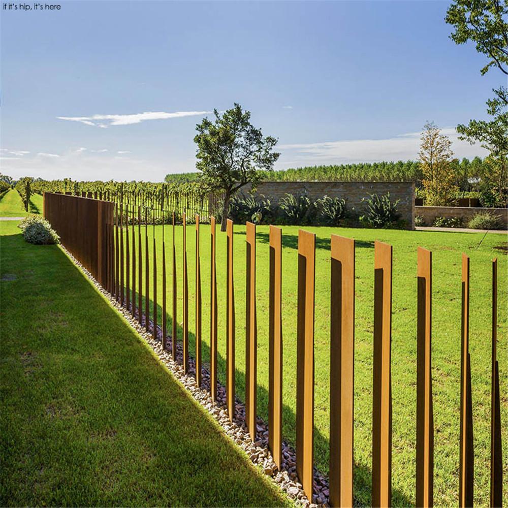 Metal Fencing Corten Steel Fence
