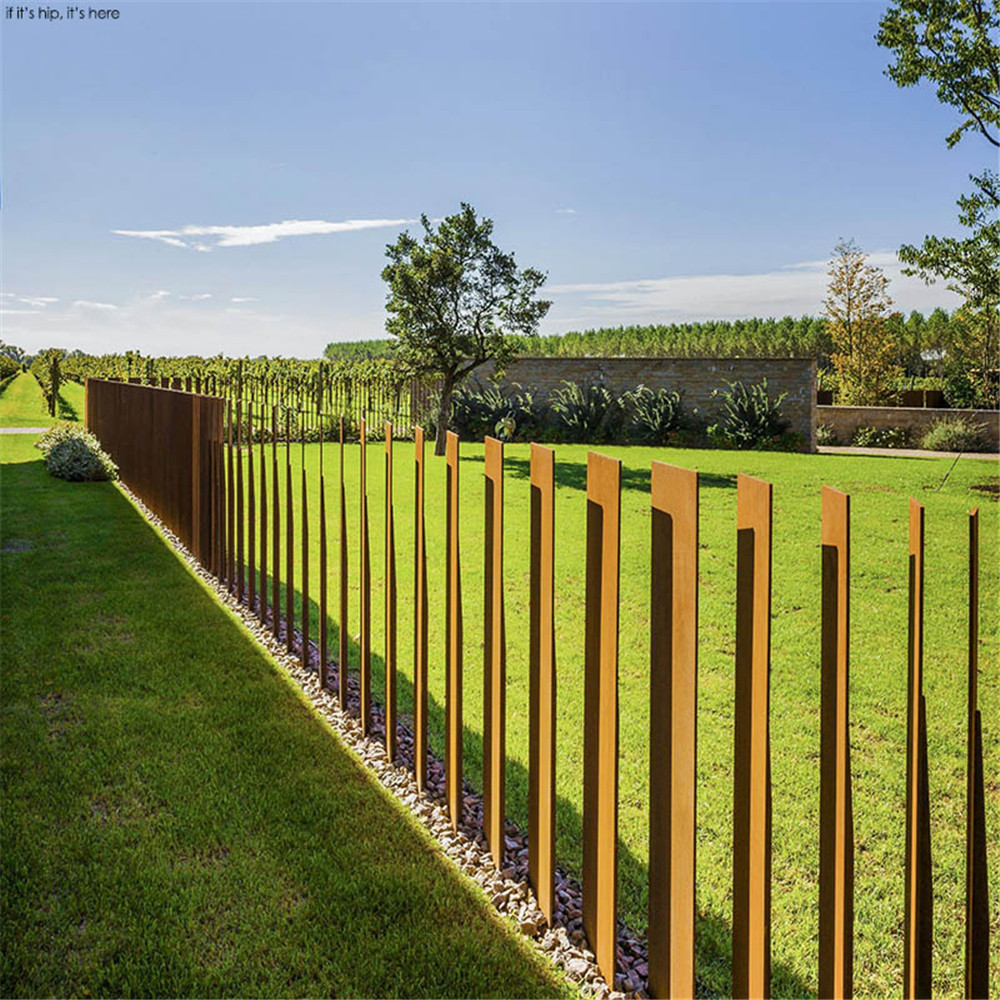 Outdoor Garden Metal Fencing Corten Steel Fence Product On Alibaba