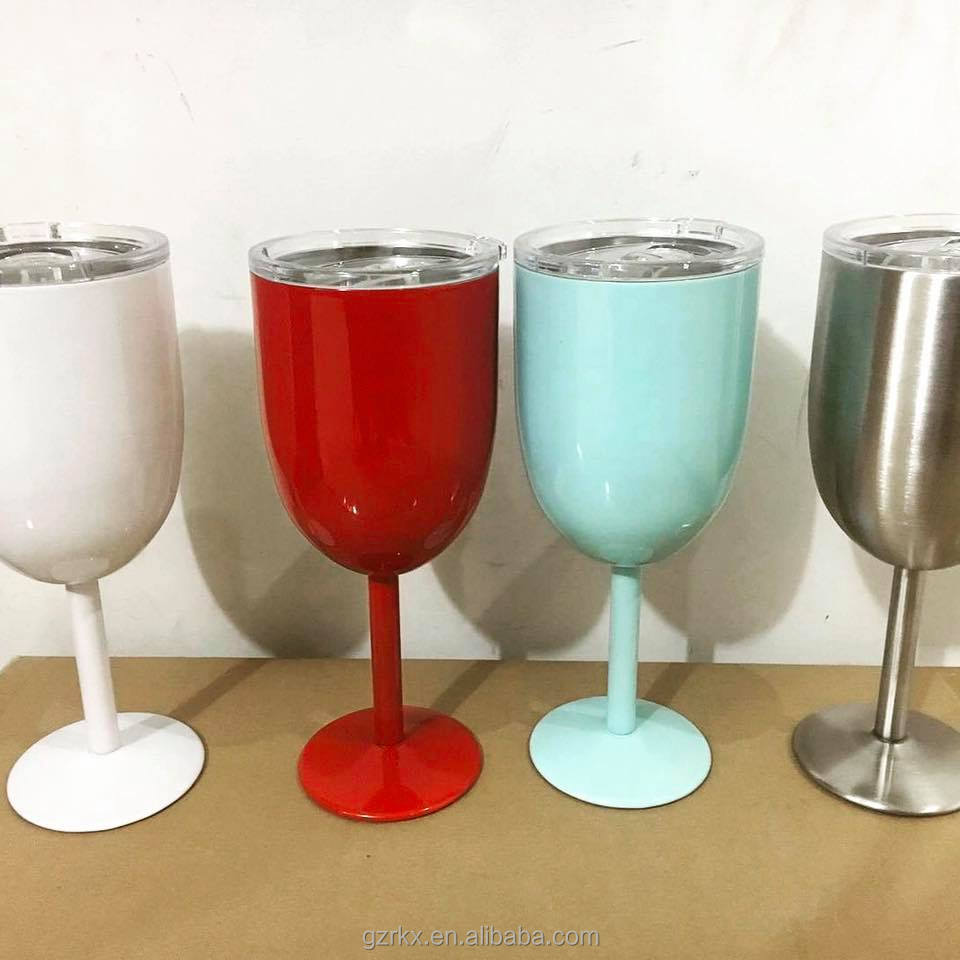 Stainless steel colored water <strong>glasses</strong> wine <strong>glass</strong>,10oz double wall stainless steel beer <strong>glass</strong>,stainless steel wine <strong>glasses</strong> 10oz