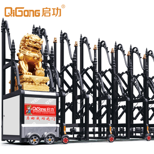 Luxury Dragon with Lion motorized retractable gate QG-L1728