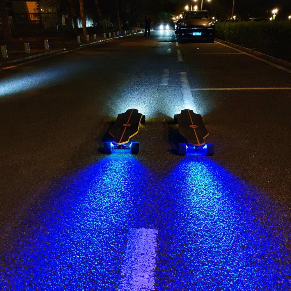 44mph big wheel dual motor long range offroad electric longboard skateboard wtih LED light Max power 3000W