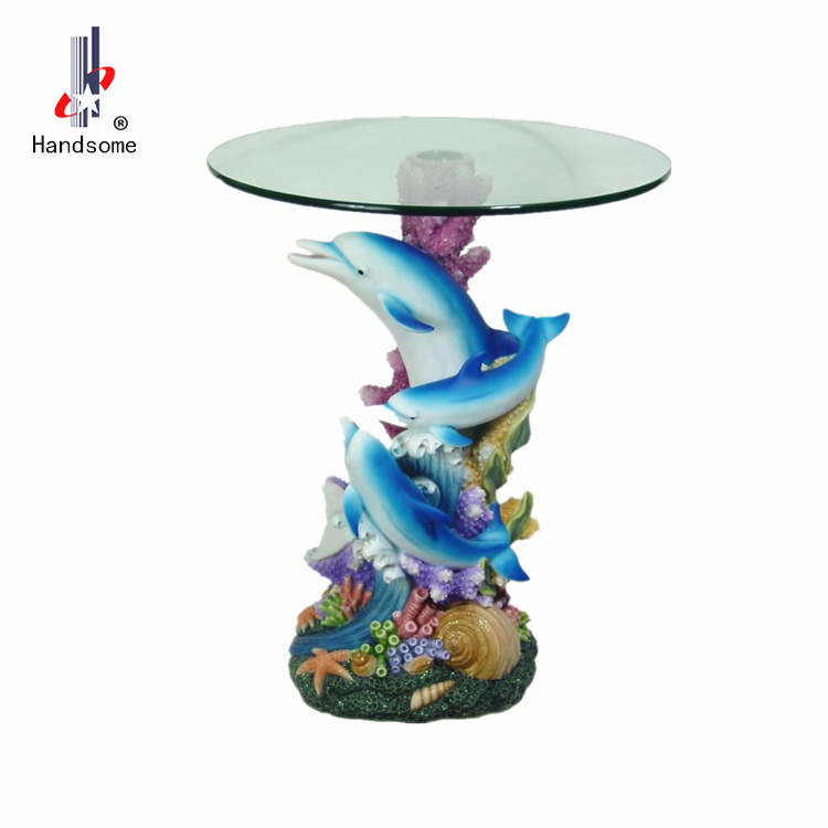 24 Inch Resin Craft Animal Coffee Table Dolphin Dining Table