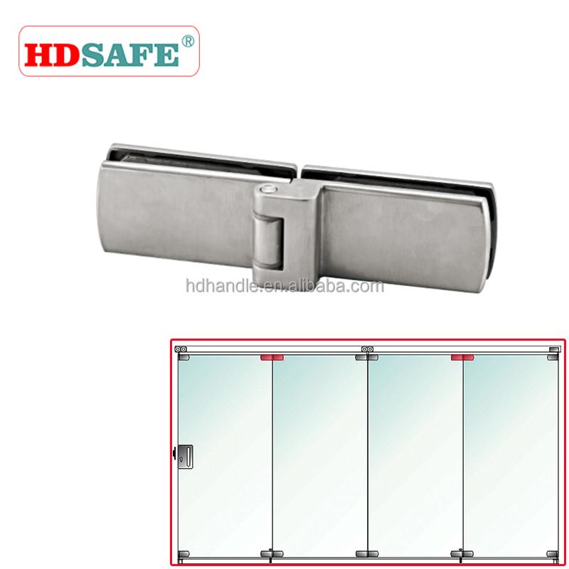 alta calidad plegable de vidrio sin marco de la puerta de acero inoxidable puerta plegable puerta