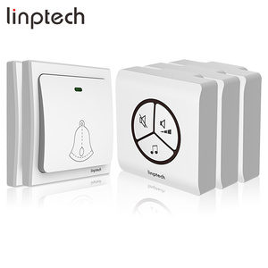 Linptech G1 classical music electron doorbell wireless EU Plug with 2 transmitters and 3 receivers