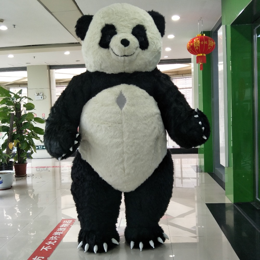 2.5m or 3m height inflatable panda mascot costume for wedding party
