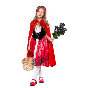 Kids Little Red Riding Hood For Girls Fancy Dress Costume Storybook Outfit Book Week Party Costumes