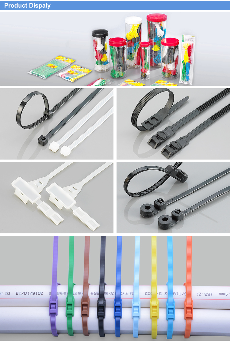 Yueqing Manufacture Plastic Playground Double Flat Head Nylon Cable Tie