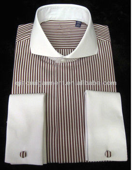 Mens contrasting white cutaway collar and french cuff for Mens dress shirts with contrasting collars and cuffs