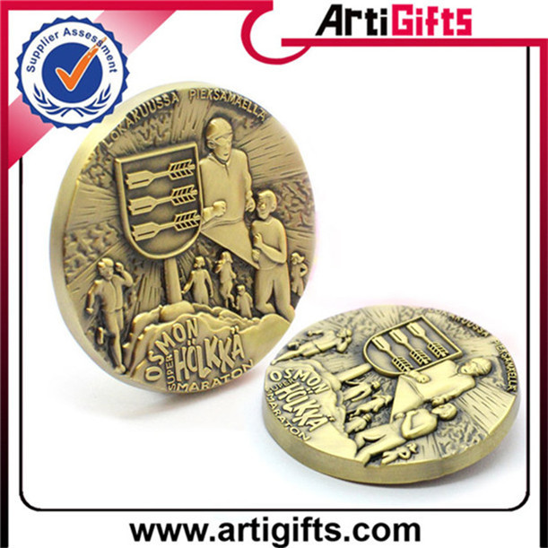Hot selling nickel plating chalenge coin