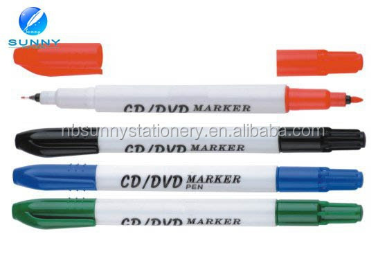 double tips CD permanent marker ,twin tips CD marker