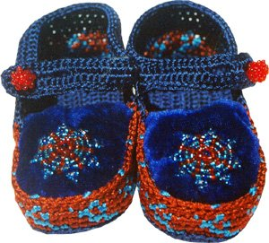 Knitted Baby shoe with beads