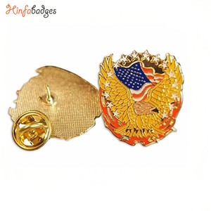 High Quality Free Sample Custom US Flag Lapel pins