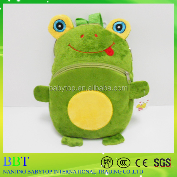 Big eyes realistic frog toy backpack school for kissing