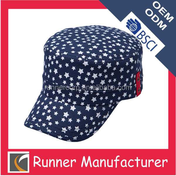 Wholesale cotton printing sun army hat pattern