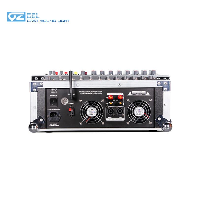 جهاز مزج الصوت والفيديو الاحترافي 8 قنوات 500 وات * 2 مزود بمكبر للصوت
