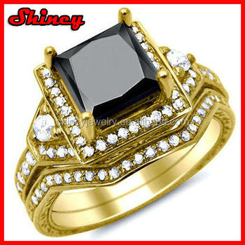 Yellow Gold Mens Heavy Cz Band Ring New Gold Ring Models For