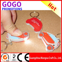 New Brand High Quality Cool PVC keychain, Environmental promotion led pvc keychain with light for gift