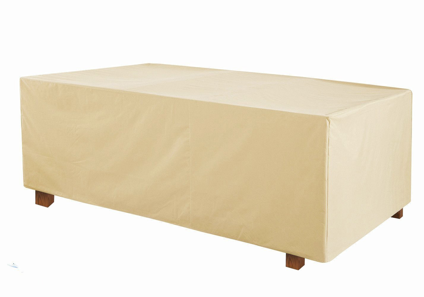 Grand Patio Deluxe Rectangular Patio Table Cover, Weather-Resistant Patio Table and Chair Covers, Waterproof and Durable Patio Dining Set Cover, Medium Size, Beige