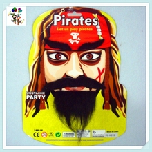 Pirate Fancy Dress Black Party Fake Mustache Beard and Eyebrows HPC-1665
