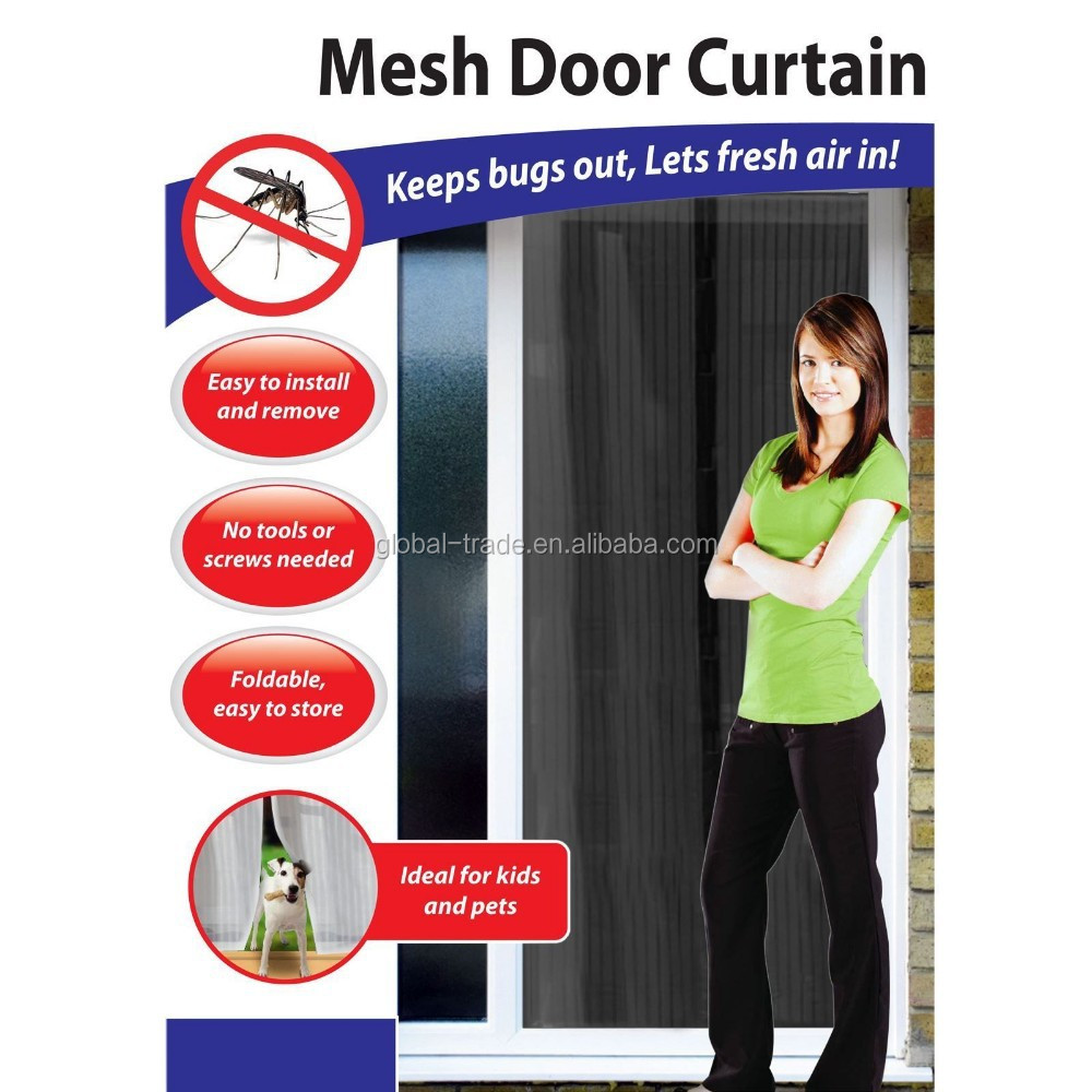 Magnetic Curtains For Doors Magnetic Magic Mesh Screen Door Magnetic Magic Mesh Screen Door