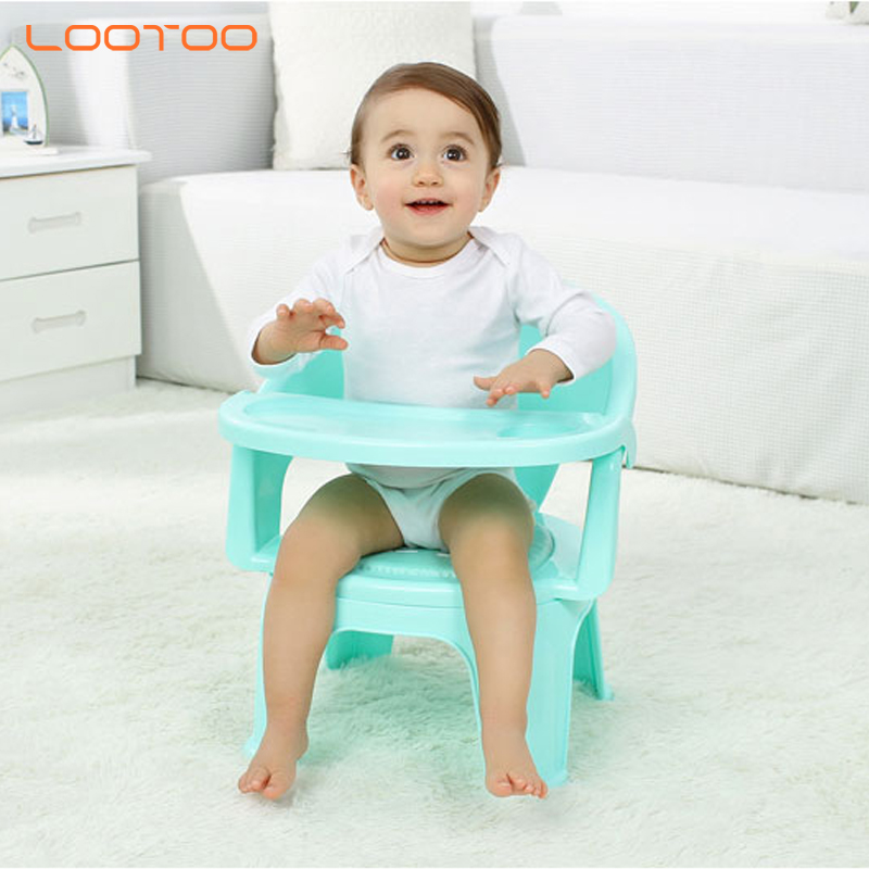 Certificated safety infant pop and sit portable plastic booster baby seat for kids attached to chair