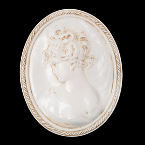 Classical wall art resin relief belle bust oil painting 159014L