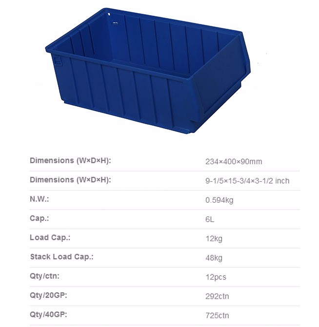Plastic picking Trays shelf bins for wire shelving used in warehouse