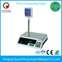 40kg LCD LED ACS series Price Computing Scale with pole desktop scale