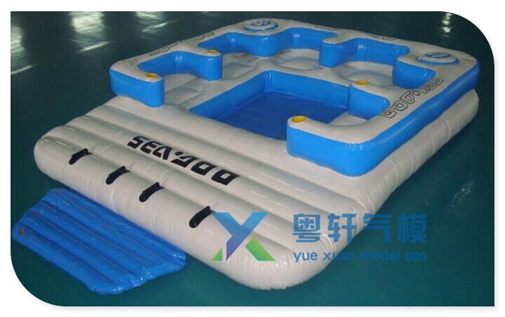 Nouveau g ant 6 personne gonflable lac radeau flottant piscine oc an le flot - Ile flottante gonflable ...