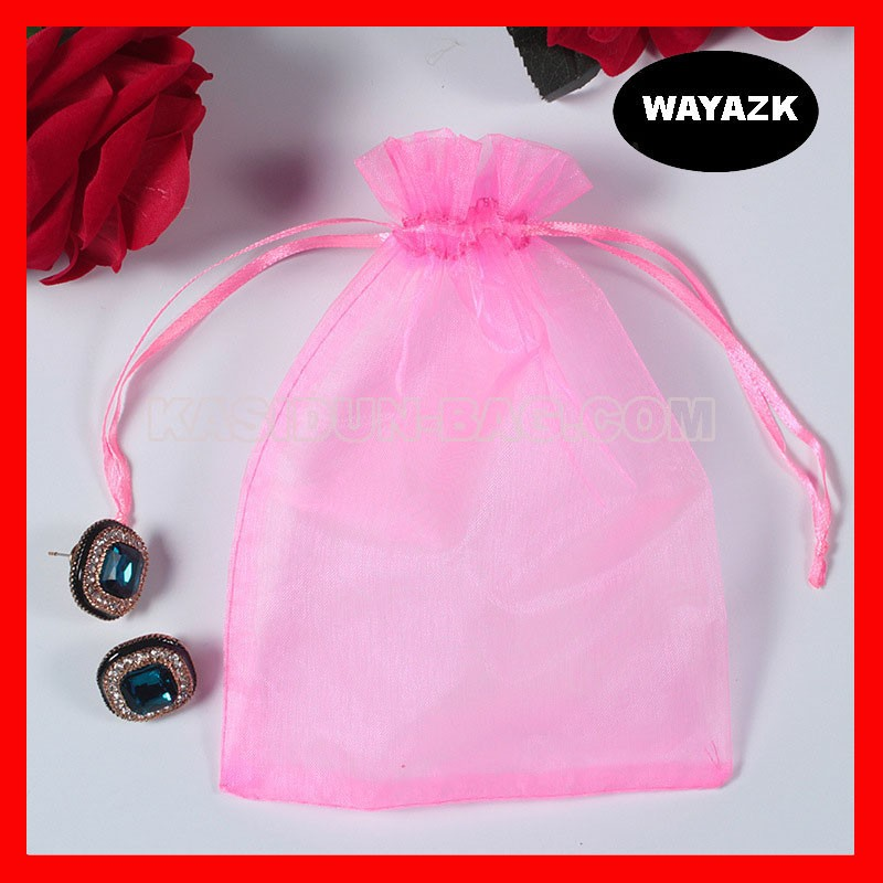 pink organza bag