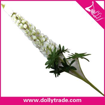 single stem artificial white gladiolus hyacinth flowers