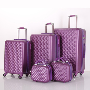 ABS travel luggage bags 20/24/28 size luggage suitcase 5pieces trolley luggage sets with beauty case