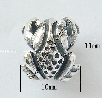sterling silver frog bead