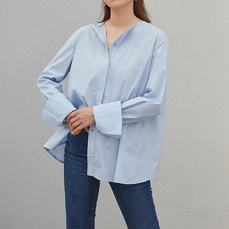 2019 spring before and after irregular tops loose shirt фото