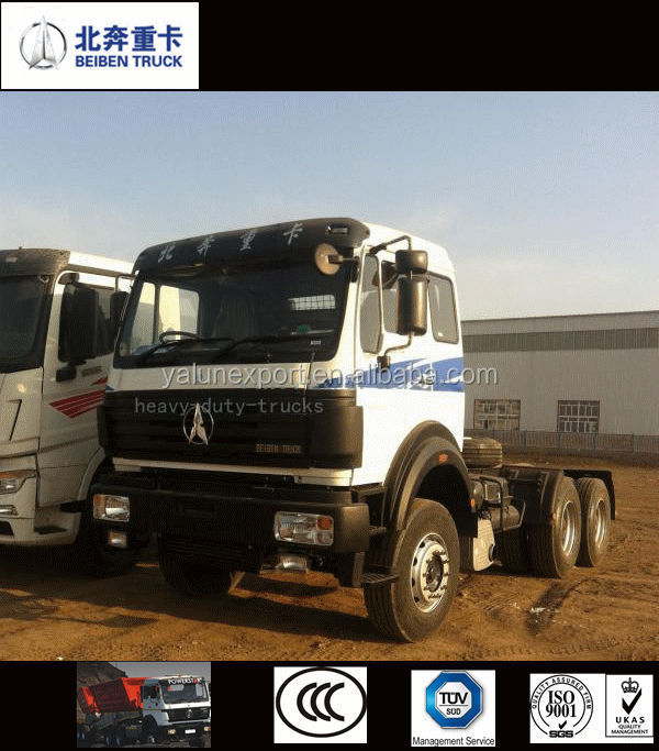 power star tractor truck Beiben prime mover 6x4 380hp truck head