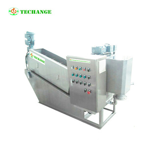 Professional production Water treatment Screw filter press sludge drier machine
