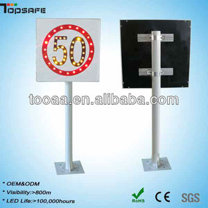 LED Solar Speed Limit Traffic Road Signs