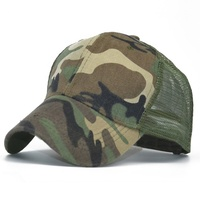 Outdoor Women Men Cotton Camouflage Caps Military Camo Hat Green Gorra Tactical Trucker Cap Breathable Mesh Baseball Hats