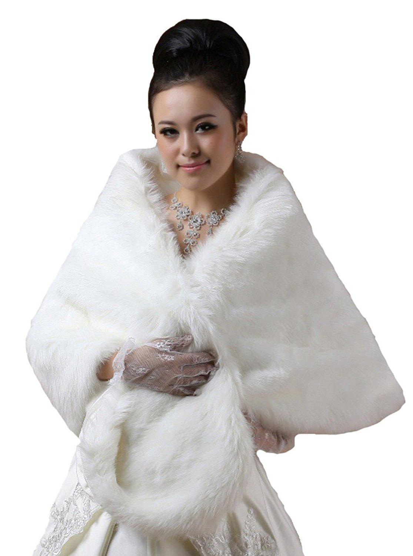 Insun Girls Faux Fur Bolero Jacket Shrug Flower Girls Wedding Bolero